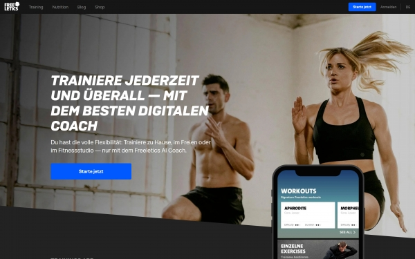 Freeletics Screenshot Alternative Nr. 1